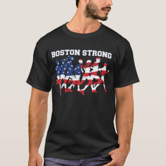 BOSTON STRONG RUNNING MARATHON AMERICAN FLAG T-Shirt