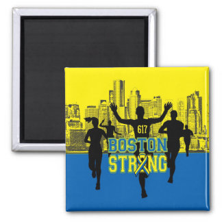 Boston Strong Spirit Silhouettes Square Magnet
