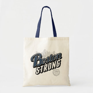 Boston Strong Typographic Style Budget Tote Bag