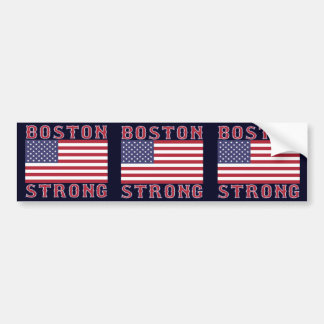 BOSTON STRONG U.S. Flag 3-in-1 Bumper Sticker Car Bumper Sticker