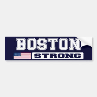 BOSTON STRONG U.S. Flag Bumper Sticker