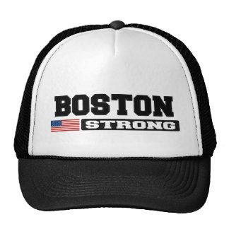 BOSTON STRONG U.S. Flag Hat (black bold)
