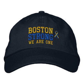Boston Strong WE ARE ONE Ribbon Edition Embroidered Hat