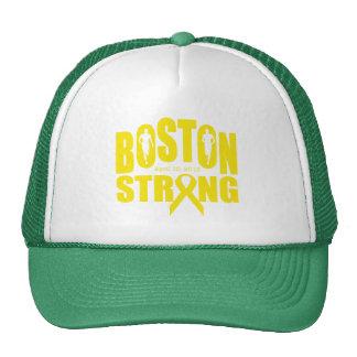 Boston strong yellow ribbon mesh hats