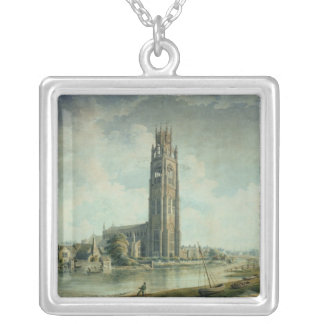 Boston Stump: view from the South-west Silver Plated Necklace