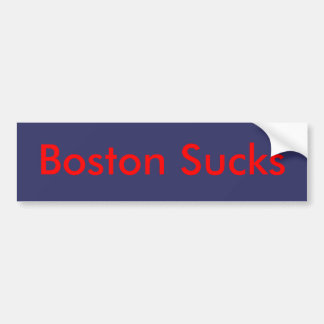 Boston Sucks Bumper Sticker