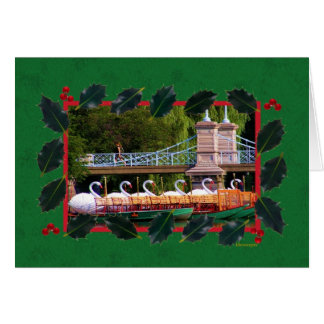 Boston Swan Boats- Boston Public Garden Greeting Card