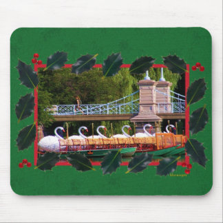 Boston Swan Boats- Boston Public Garden Mousepads