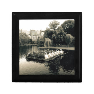 Boston Swan Boats In Black and White Gift Box