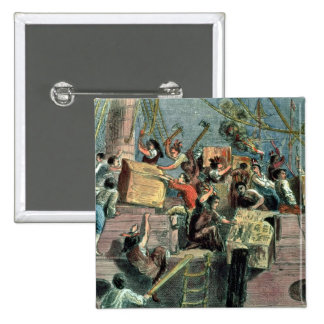 Boston Tea Party, 16th December 1773 15 Cm Square Badge