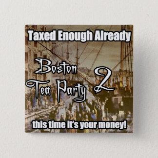 Boston Tea Party 2 15 Cm Square Badge