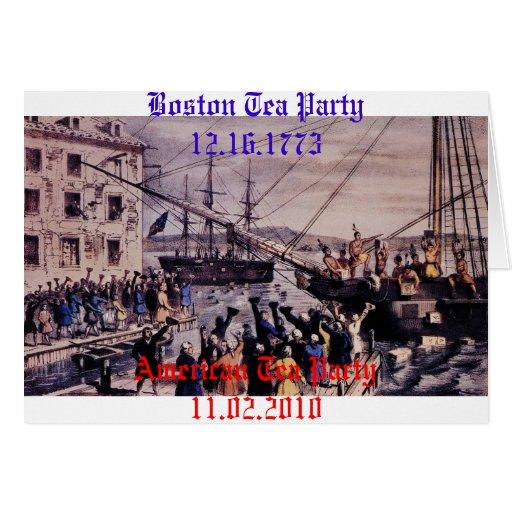 Boston Tea Party Greeting Cards