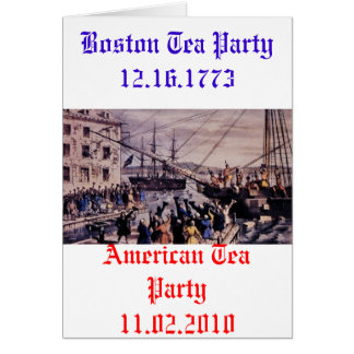 Boston Tea Party Stationery Note Card
