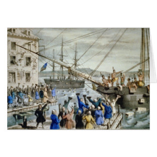 Boston Tea Party Card, Nathaniel Currier Greeting Card