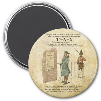 Boston tea Party Independence Day 7.5 Cm Round Magnet