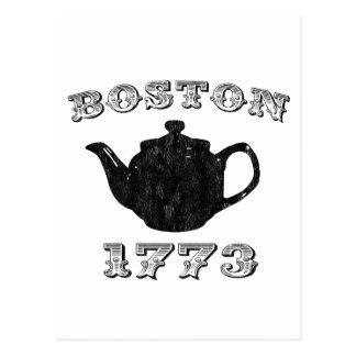 boston tea party postcard