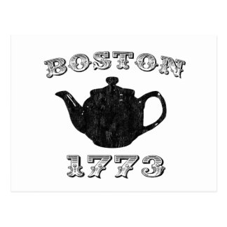 boston tea party postcard