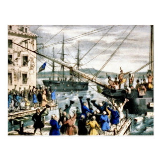 Boston Tea Party Postcard Vintage
