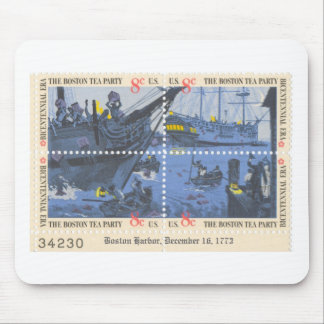 boston tea party stamp pad mouse mat