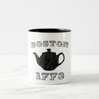 boston tea party Two-Tone mug