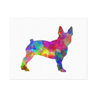 Boston Terrier 01 in watercolor Canvas Print