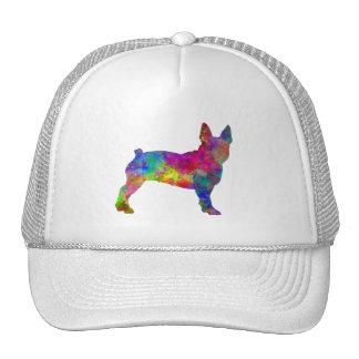 Boston Terrier 01 in watercolor Cap