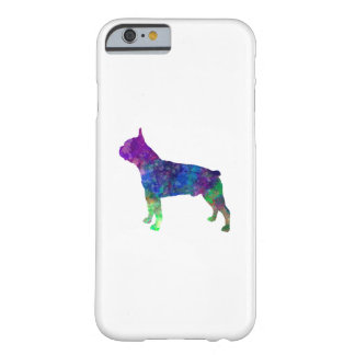 Boston Terrier 02 in watercolor Barely There iPhone 6 Case