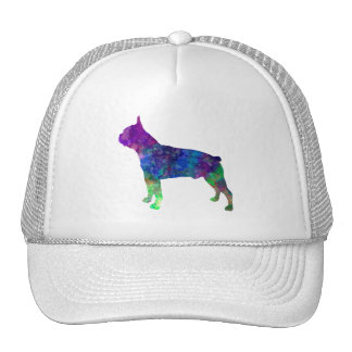 Boston Terrier 02 in watercolor Cap