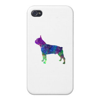 Boston Terrier 02 in watercolor iPhone 4/4S Cover