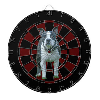 Boston terrier  1b dartboard
