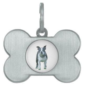 Boston terrier  1b pet name tag