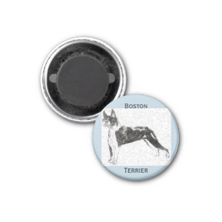 Boston Terrier 3 Cm Round Magnet