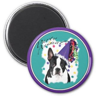 Boston Terrier 6 Cm Round Magnet