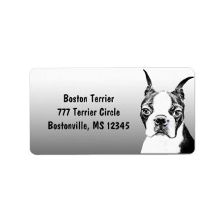Boston Terrier Address Label
