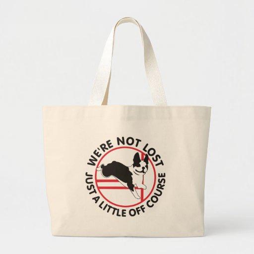 Boston Terrier Agility Off Course Canvas Bag