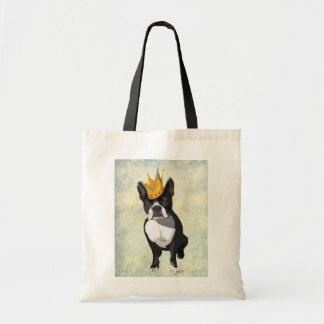 Boston Terrier and Crown Budget Tote Bag