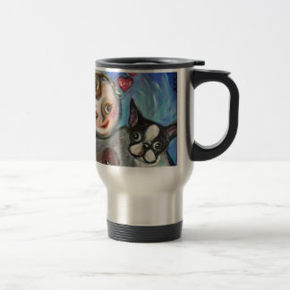 Boston Terrier baby love hearts Mugs