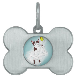 Boston Terrier Bath Pet Tag