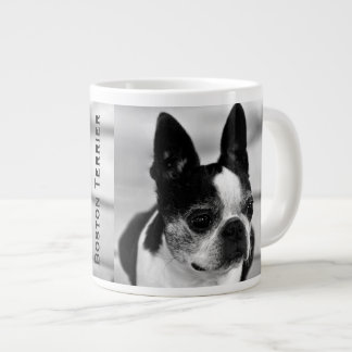 Boston Terrier Black and White Large Coffee Mug