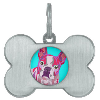 Boston Terrier Bone Pet Tag