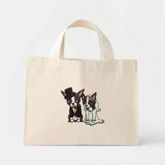 Boston Terrier Bride and Groom Canvas Bag