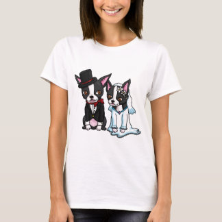 Boston Terrier Bride and Groom T-Shirt