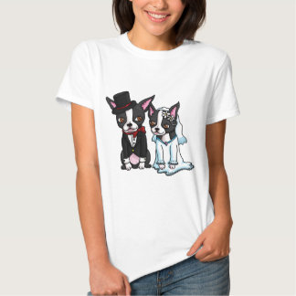Boston Terrier Bride and Groom Tee Shirt