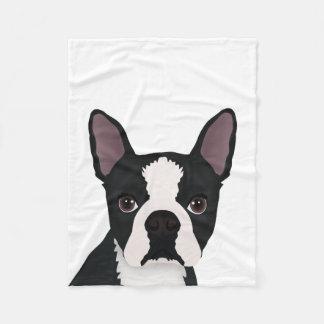 boston terrier cartoon fleece blanket