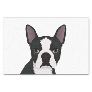 boston terrier cartoon tissue paper