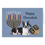 Boston Terrier Chanukah Card Menorah Dreidel1
