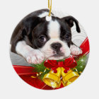 Boston Terrier Christmas Hanging Ornament