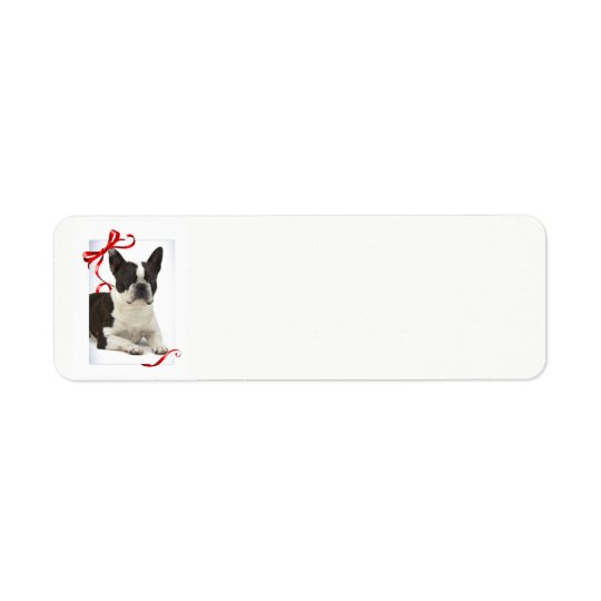 Boston Terrier Christmas Return Address Labels