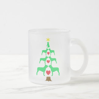 Boston Terrier Christmas Tree Mug