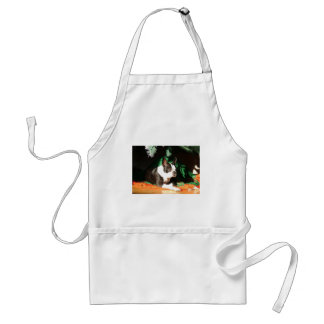 Boston Terrier Christmas with Piper Standard Apron